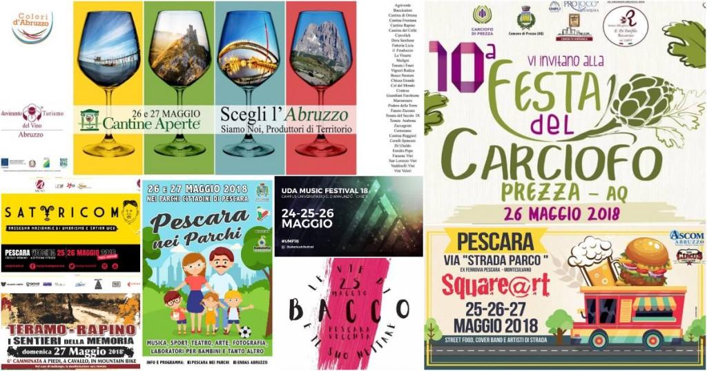 Eventi in Abruzzo dal 25 al 27 maggio 2018