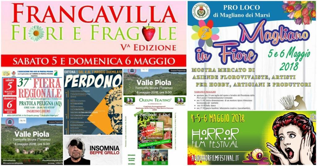 Eventi in Abruzzo dal 4 al 6 maggio 2018