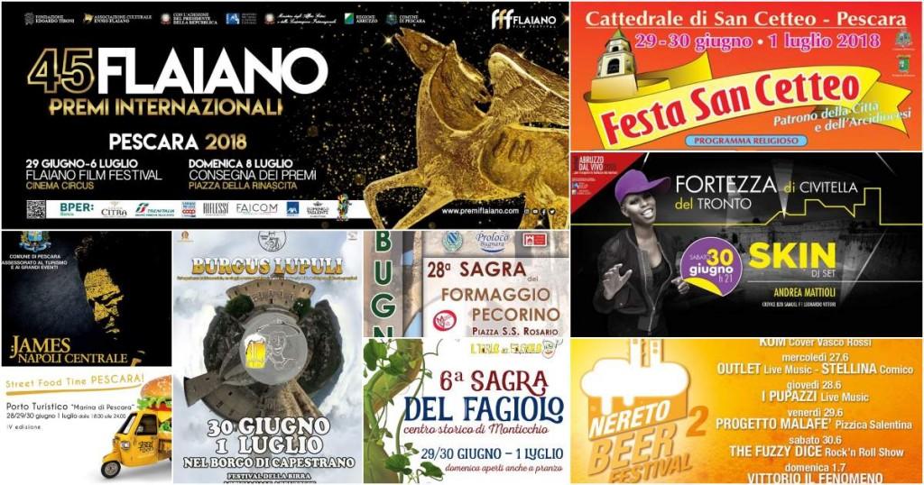 Eventi in Abruzzo dal 29 giugno al 1° luglio 2018