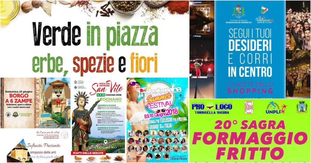 Eventi in Abruzzo dall'8 al 10 giugno 2018