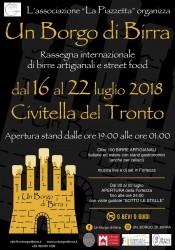 Un Borgo di Birra a Civitella del Tronto dal 16 al 22 luglio 2018