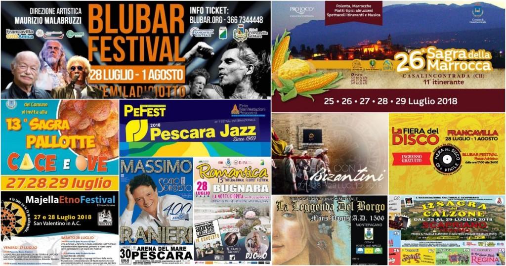 Eventi in Abruzzo dal 27 al 29 luglio 2018