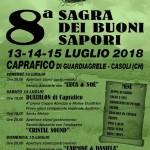 Sagra dei Buoni Sapori a Caprafico dal 13 al 15 luglio 2018 1