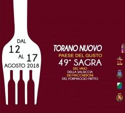 Sagra del Gusto 2018 a Torano Nuovo: Vino, Salsiccia, Maccheroni e Formaggio Fritto