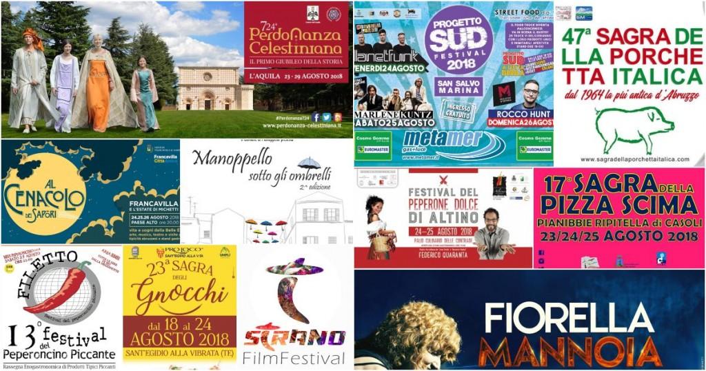 Eventi in Abruzzo dal 20 al 26 agosto 2018