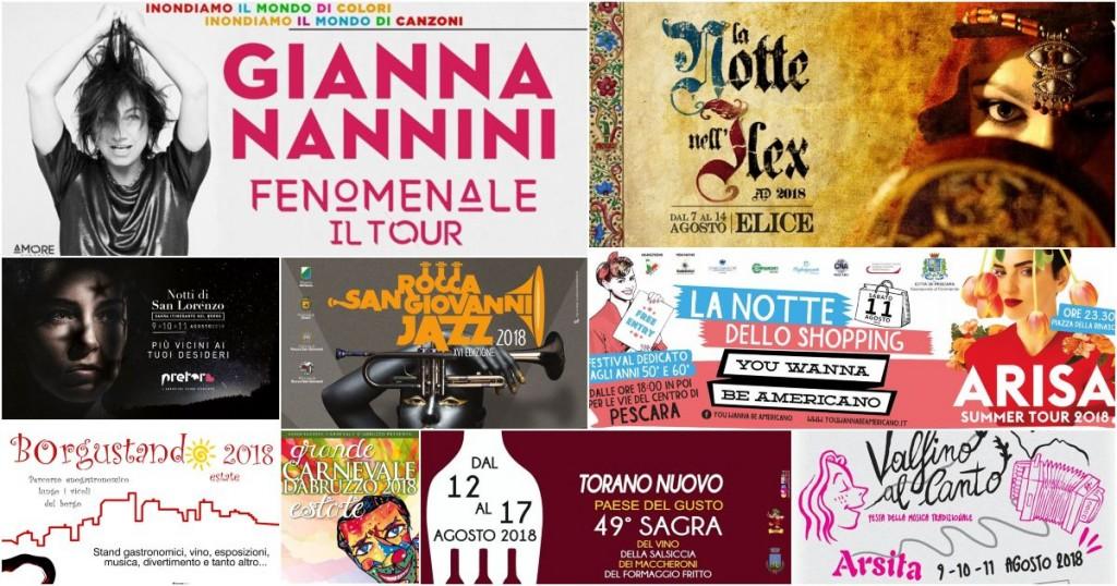 Eventi in Abruzzo dall'8 al 12 agosto 2018