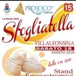 Serata della Sfogliatella a Villalfonsina il 18 agosto 2018