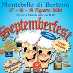 Septemberfest 2018 a Montebello di Bertona