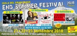 End Summer Festival 2018 a Isola del Gran Sasso