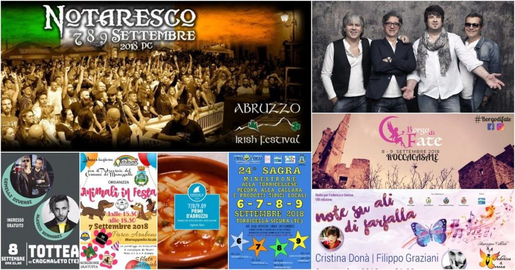 Eventi in Abruzzo dal 7 al 9 settembre 2018