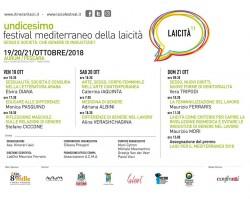 XI edizione del Festival Mediterraneo della Laicità a Pescara