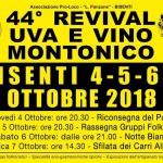 44° Revival Uva e Vino Montonico a Bisenti dal 4 al 7 ottobre 2018