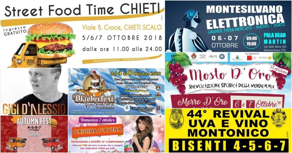 Eventi in Abruzzo dal 4 al 7 ottobre 2018