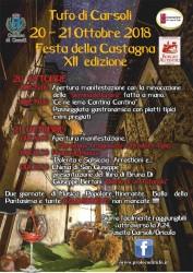 Festa della Castagna a Tufo di Carsoli il 20 e 21 ottobre 2018