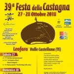 Festa della Castagna a Leofara di Valle Castellana il 27 e 28 ottobre 2018