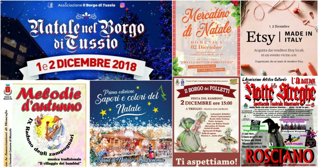 Eventi in Abruzzo il 1° e 2 dicembre 2018