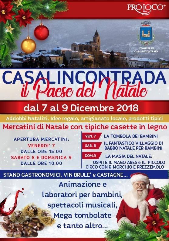 Il Paese Del Natale.Il Paese Del Natale A Casalincontrada Dal 7 Al 9 Dicembre