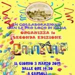 Carnevale a Carsoli il 3 marzo 2019