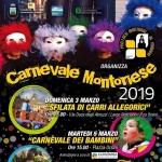 Carnevale Montoriese 2019 con Sfilata dei Carri, Carnevale Morto e Martufello