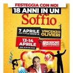 Vincenzo Olivieri e Festival Artisti di Strada al Centro d'Abruzzo per il 18° Compleanno