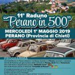 """11° Raduno """"Perano in 500"""" il Primo Maggio 2019"""