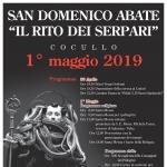 A Cocullo Rito dei Serpari - Festa di San Domenico Abate il Primo Maggio 2019