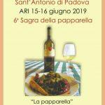Sagra della Pappardella ad Ari per la Festa di Sant'Antonio da Padova