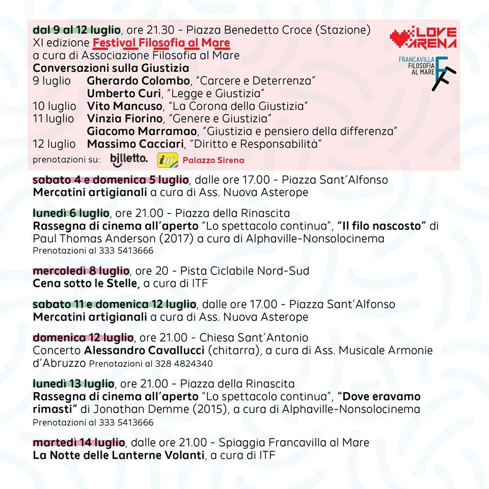 Calendario Eventi Francavilla Al Mare 2021 Estate 2020 a Francavilla al Mare: tutti gli eventi | Il Mondo